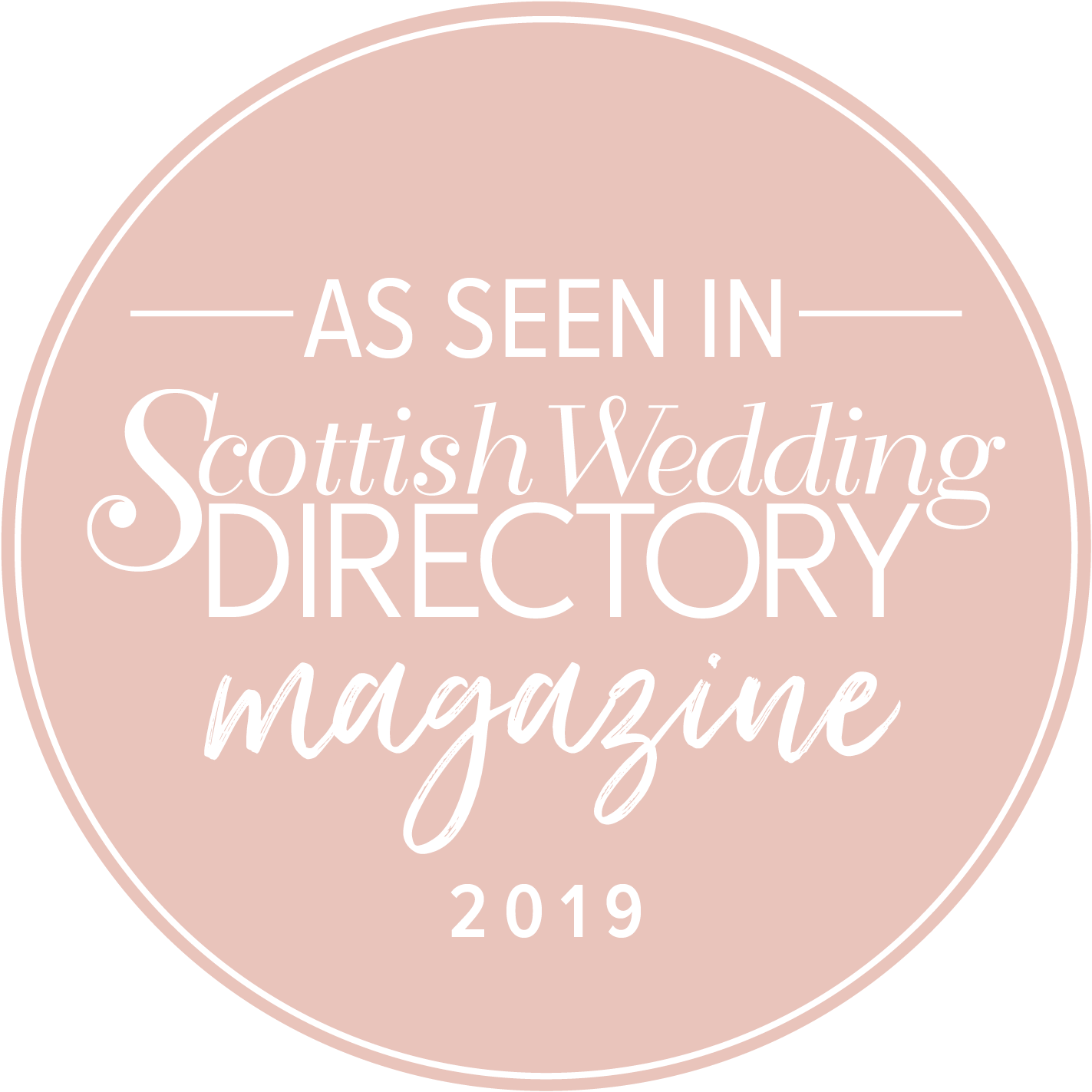 As Seen in Scottish Wedding Directory Magazine